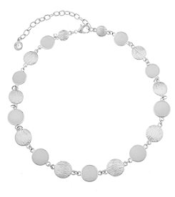 Gloria Vanderbilt™ Silvertone Circle Link Collar Necklace