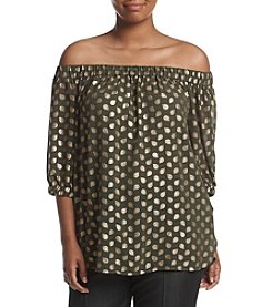 MICHAEL Michael Kors® Plus Size Bergalia Off Shoulder Top