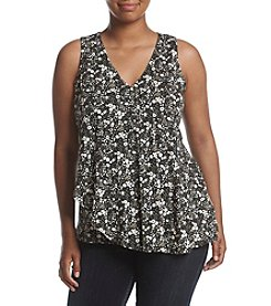 MICHAEL Michael Kors® Plus Size Brooks Wrap Flounce Top