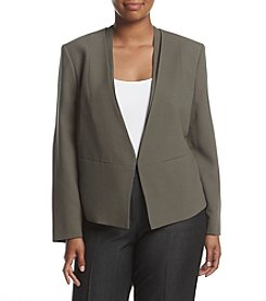 Nine West® Plus Size Crepe Kiss Front Jacket