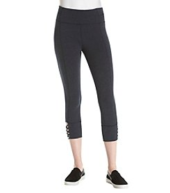 Calvin Klein Performance Lattice Detail High Waist Crop Leggings