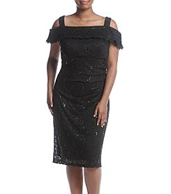 R&M Richards® Plus Size Off Shoulder Lace Dress