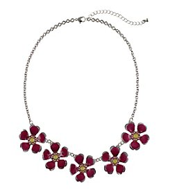 Studio Works® Enamel Flower Necklace