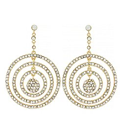 Jessica Simpson Goldtone Pavé Orbital Drop Earrings