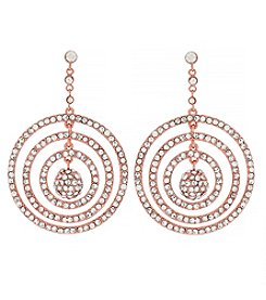 Jessica Simpson Rose Goldtone Pave Orbital Drop Earrings