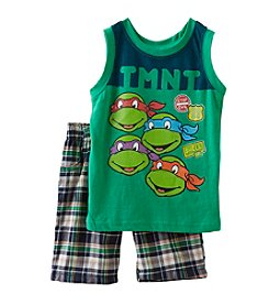 Nannette® Boys' 2T-7 2 Piece Turtles Muscle Shirt And Shorts Set