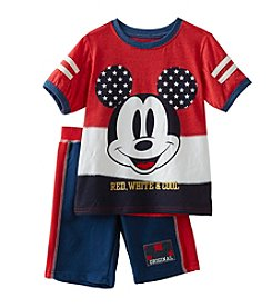 Mickey Mouse® Boys' 2T-7 2 Piece Mickey Mouse Americana Shorts Set