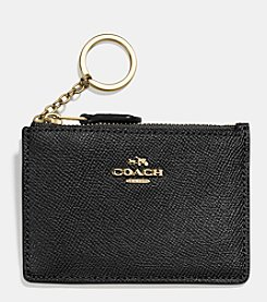 COACH MINI SKINNY ID CASE IN CROSSGRAIN LEATHER