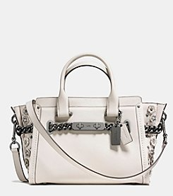 COACH SWAGGER 27 IN GLOVETANNED LEATHER WILLOW FLORAL DETAIL