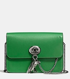 COACH BOWERY LEATHER CROSSBODY WITH REBEL CHARM