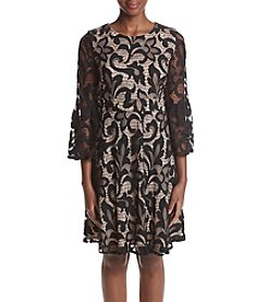 Jessica Howard® Black And Tan Lace Dress