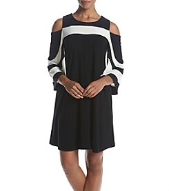 Nina Leonard® Cold Shoulder Dress