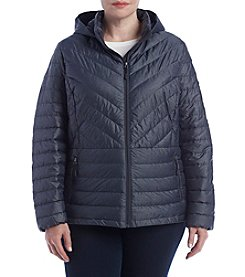 32 Degrees Plus Size Hooded Short Jacket