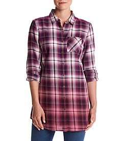 Ruff Hewn Dip Dye Plaid Top