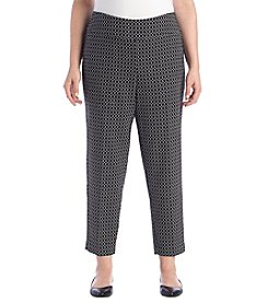 Alfred Dunner® Plus Size Short Saratoga Springs Printed Pants