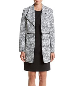 Kasper® Zip Accents Pattern Jacket