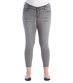 Celebrity Pink Plus Size Raw Hem Ankle Jeans