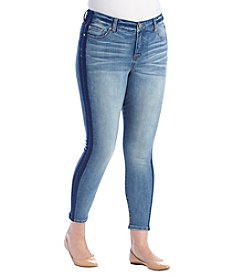 Celebrity Pink Plus Size Tuexdo Stripe Ankle Jeans