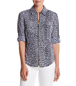 MICHAEL Michael Kors® Cheetah Zip Blouse