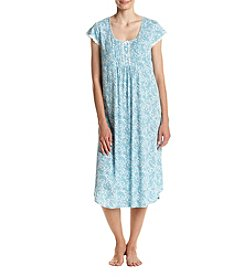 Miss Elaine® Printed Long Nightgown