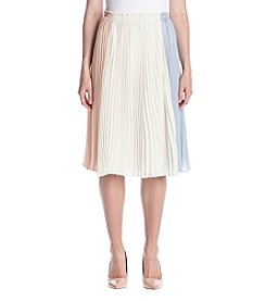 June & Hudson® Color Block Pleated Skirt