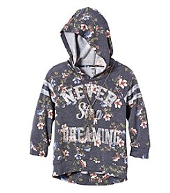Beautees Girls' 7-16 Never Stop Dreaming Floral Hoodie