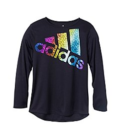 adidas® Girls' 7-16 Long Sleeve Faster Than Fast Tee