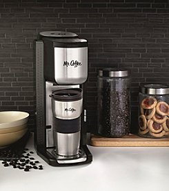 Mr. Coffee® Single Cup Coffeemaker with Built-in Grinder
