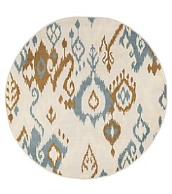 Lavish Home 5' Transitional Ikat Round Area Rug