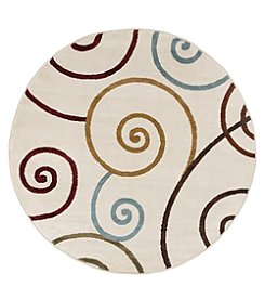 Lavish Home 5' Contemporary Round Area Rug