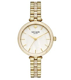 kate spade new york® Women's Gold And Horn Holland Watch