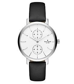 kate spade new york® Women's Black Monterey Multifunction Watch