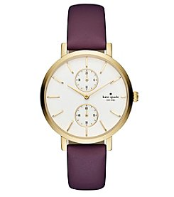 kate spade new york®Women's Plum Monterey Multifunction Watch