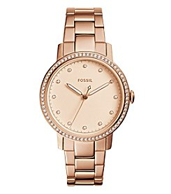 Fossil® Neely Three-Hand Rose Goldtone Watch