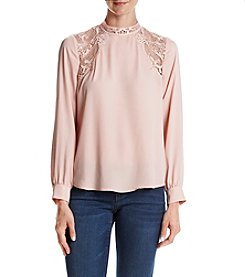 Ivanka Trump® Lace Inset Blouse