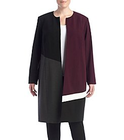 Calvin Klein Plus Size Color Block Topper Jacket