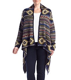 Ruff Hewn® Plus Size Draped Front Printed Sweater