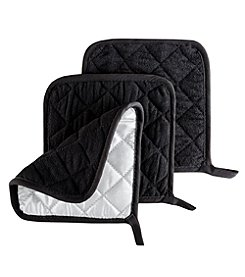 Lavish Home 3 Pc Heat Resistant Quilted Cotton Pot Holders