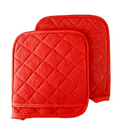 Lavish Home Set of 2 Oversized Heat Resistant Quilted Cotton Pot Holders