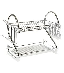 Chef Buddy 2-Tiered Chrome Dish Drying Rack