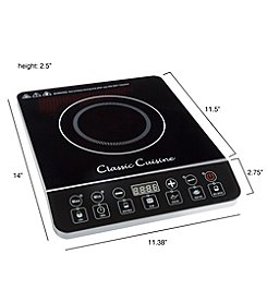 Classic Cuisine Multi-Function 1800W Portable Induction Cooktop Burner