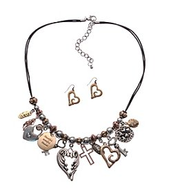 L&J Accessories® Inspirational Necklace And Earring Set
