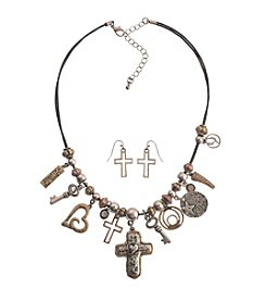 L&J Accessories Inspirational Necklace And Earring Set