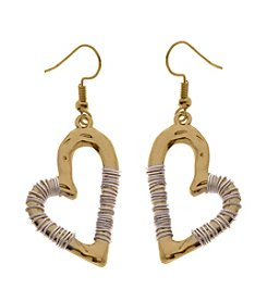 L&J Accessories Heart Drop Earrings
