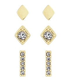Laundry® Simulated Crystal Stud Earring Set