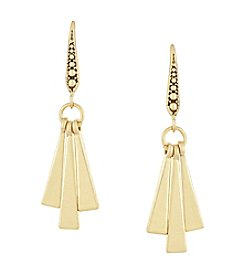 Laundry® Goldtone Paddle Drop Earrings