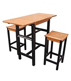 Northbeam Kitchen Island Table Two Stool Set