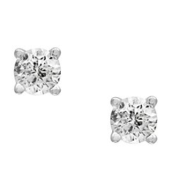 Effy® 14K White Gold Diamond Stud Earrings