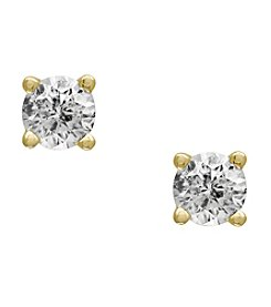 Effy® 14K Yellow Gold Diamond Stud Earrings