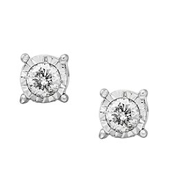Effy® Sterling Silver Mircle Set Diamond Stud Earrings